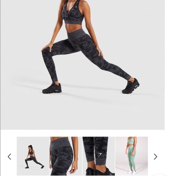 enjoy complimentary shipping outlet pretty cheap GYMSHARK camo leggings- black! NWT